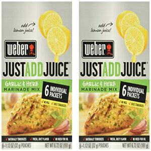 ウェーバーはジュースニンニクとハーブマリネミックスを12パケット(6個/箱)NET WT 6.72 OZだけで追加 Weber Just Add Juice Garlic and Herb Marinade Mix 12 Packets (6 Per Box)NET WT 6.72 OZ