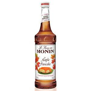 モニン-メープルパンケーキシロップ、スイートメープルフレーバー、ラテ、アイスコーヒー、シェイクに最適、グルテンフリー、ビーガン、非GMO、ガラスボトル(750 ml) Monin - Maple Pancake Syru