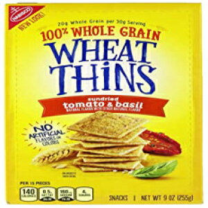 Wheat Thins、サンドライトマト&バジル、9オンス Wheat Thins, Sundried Tomato & Basil, 9 oz