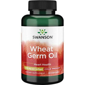 Swanson Cold-Pressed Wheat Germ Oil 1130 Milligrams 60 Sgels