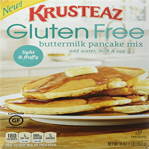 Krusteaz、グルテンフリー、パンケーキミックス、バターミルク、16オンスボックス(3パック) Krusteaz, Gluten Free, Pancake Mix, Buttermilk, 16oz Box (Pack of 3)