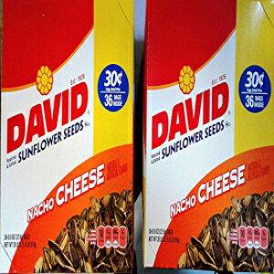 デビッドサンフラワーシードナチョチーズ(2ボックスディール)30セント36ct / .8オンスバッグ72バッグ(キャンディワールドから) Candy World. David SunFlower Seeds Nacho Cheese ( 2 Box Deal ) 30cents 36ct/.8-
