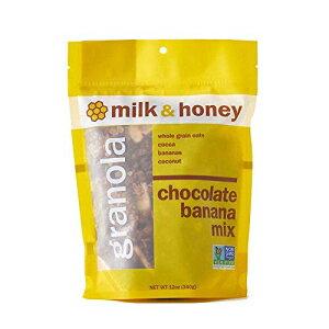ミルク&ハニーグラノーラ、チョコレートバナナミックス、非GMOプロジェクト検証済み、女性経営の会社、12オンス(6パック) Milk & Honey Granola, Chocolate Banana Mix, Non-GMO Project Verified, Women-Owned Co