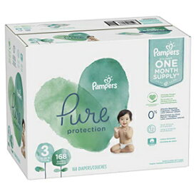 Size 3, 168 Count - Pampers Pure Disposable Baby Diapers, Hypoallergenic and Fragrance Free Protection, ONE Month Supply