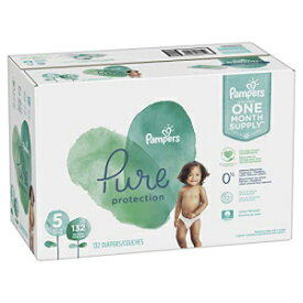 Size 5, 132 Count - Pampers Pure Disposable Baby Diapers, Hypoallergenic and Fragrance Free Protection, ONE Month Supply