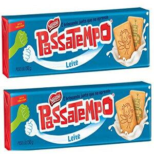 Nestle PASSATEMPO Biscoito Leite 150gr - 2 Pack | Milk Cookie 5.29 oz. - 2 Pack