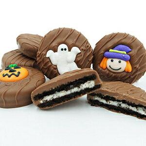 フィラデルフィアキャンディーズミルクチョコレートで覆われたOREOクッキー、ハロウィーンの品揃え(かわいい魔女、ゴースト、カボチャ)8オンス Philadelphia Candies Milk Chocolate Covered OREO Cookie