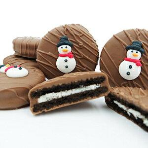 Philadelphia Candies Milk Chocolate Covered OREO Cookies, Winter Snowman 8 Ounce