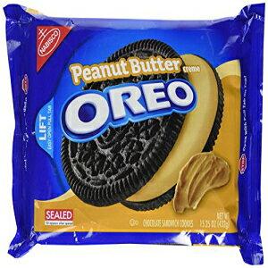 オレオピーナッツバターサンドイッチクッキー、15.25オンス Oreo Peanut Butter Sandwich Cookie, 15.25 oz