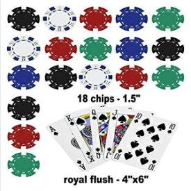 ポーカー食用ケーキトッパーロイヤルフラッシュケーキトッパーカジノチップ、青、1/4シートサイズ Cake Images Poker Edible Cake Topper Royal Flush Cake Topper Casino Chips, Blue, 1/4 sheet size