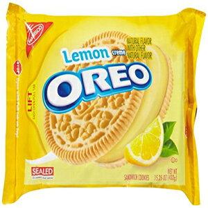 オレオサンドイッチクッキー-レモンクリーム-15.25オンス Oreo Sandwich Cookies - Lemon Creme - 15.25 Ounces