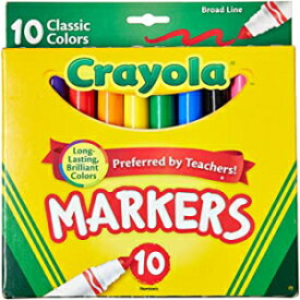 Visit the Crayola Store Pack of 1, Crayola Broad Line Markers, Classic Colors 10 Each