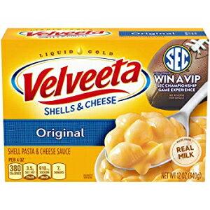 オリジナル、ベルビータオリジナルシェル&チーズ(12オンスボックス) Original, Velveeta Original Shells & Cheese (12 oz Box)