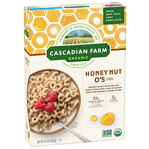 Cascadian Farm Organic Cereal、Honey Nut O's、9.5オンス(12パック) Cascadian Farm Organic Cereal, Honey Nut O's, 9.5 oz (Pack of 12)