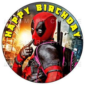 7.5インチの食用ケーキトッパー–デッドプールファンパーティーをテーマにした食用ケーキデコレーションのバースデーパーティーコレクション My Smart Choice 7.5 Inch Edible Cake Toppers – Deadpool Fun Party Themed Birthday Party Collection of Ed