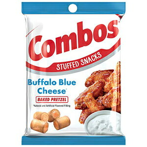 COMBOSバッファローブルーチーズプレッツェルベイクドスナック6.3オンスバッグ(6パック) COMBOS Buffalo Blue Cheese Pretzel Baked Snacks 6.3-Ounce Bag (Pack of 6)