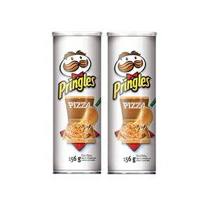 プリングルズポテトチップス、ピザフレーバー、156g / 5.50oz(2パック){カナダから輸入} Pringles Potato Chips, Pizza Flavour, 156g/5.50oz (2 Pack){Imported from Canada}