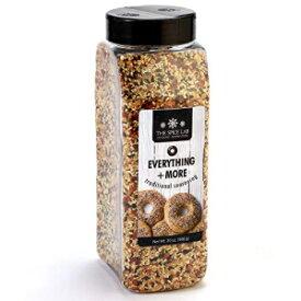 スパイスラボエブリシングベーグル調味料ブレンド–20オンス。浴槽-プレミアムグルメパレオとケト承認のスパイス-完璧なすべての調味料-ゴマ、ニンニク、玉ねぎのブレンド The Spice Lab Everything Bagel Seasoning Blend – 20 oz. Tub - Premium Gourmet P