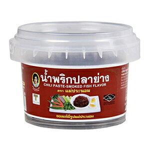 マエプラノム、チリペースト、魚の燻製フレーバー、90g [2個入り] Maepranom, Chili Paste, Smoked Fish Flavour, 90 g [Pack of 2 pieces]