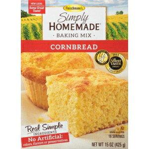フライシュマンの、単に自家製のコーンブレッドベーキングミックス(2パック) Fleischmann's, Simply Homemade, Cornbread Baking Mix (Pack of 2)