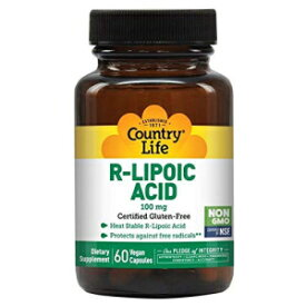Country Life R-Lipoic Acid 100 mg - 60 Vegan Capsules - Heat Stable R-Lipoic Acid - Protects Against Free radicals