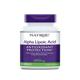 Natrol Alpha Lipoic Acid Capsules, Antioxidant Protection, ALA, Helps Protect Against Cellular Oxidation and Age-Related Damage, Whole Body Cell Rejuvenation, 600mg, 30 Count