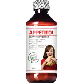 CJ Appetitol Appetite-Weight Gain. Natural Appetite and Weight Gain Stimulant for Underweight Children Fortified with Vitamins B1,B2,B3,B5,B6,B12,Folic Acid , Iron, Zinc, Flax Seed Oil. ( 8 Fl Oz)