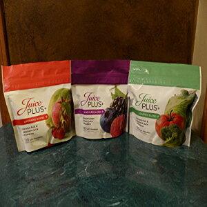 ジュースプラス+果樹園、庭、ブドウ園のブレンド(3袋)各120チュアブル Juice Plus+ Orchard, Garden & Vineyard Blend (3 bags) 120 Chewables of Each