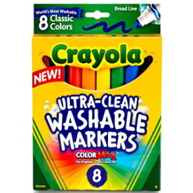 Crayola Broad Line Washable Markers, 8 Markers, Classic Colors Pack of 10