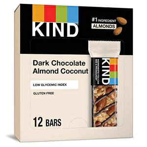 KINDバー、ダークチョコレートアーモンドココナッツ、グルテンフリー、1.4オンスバー、12カウント KIND Bars Low Glycemic Index Gluten Free Bars 1.4 OZ, Dark Chocolate Almond & Coconut, (Pack of 12)