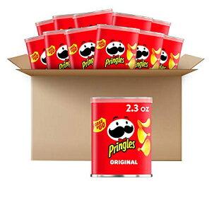 プリングルズオリジナルポテトクリスプ-完全に味付けした塩味のスナック、ゲームデーパーティーフード(12缶) Pringles Potato Crisps Chips, Original, 2.3oz (12 Count)
