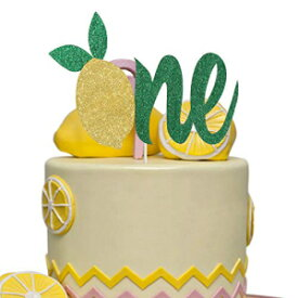 PANHUI Lemon One Cake Topper, First 1st Birthday Lemonade Baby Shower Cake Decor,Summer,Tutti Frutti,Hawaiian, Swimming Pool Party Supplie Decorations