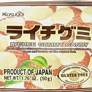 春日井キウイ、ライチ、1.76オンス Kasugai Gummy Candy, Lychee, 1.76 oz