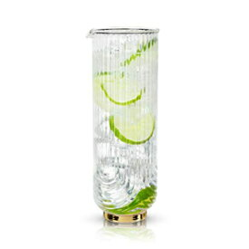 Viski 7949 Belmont: Gatsby Carafe Drinking glasses, One Size, Clear