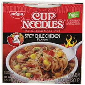 日清カップヌードルスパイシーチリチキン、2.25オンス(12個入り) Visit the Nissin Store Nissin Cup Noodles Spicy Chile Chicken, 2.25-Ounces (Pack of 12)