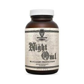 Ambrosia Night Owl - Eye Health | Protect Against Blue Light & Eye Strain | Alpha Brain Waves & Brain Recovery | Lutemax 2020, Suntheanine, Magtein | 60 Veggie Capsules