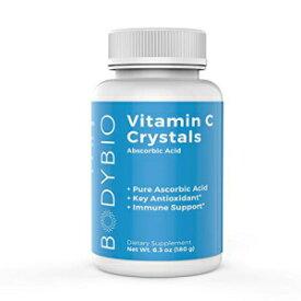 BodyBio Vitamin C, Ascorbic Acid sourced from Scotland, Immune Support, Antioxidant Supplement 180g