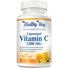 HealthyWayRx Healthy Way Liposomal Vitamin C - 1200mg Supplement - 180 Capsules - High Absorption Vitamin C Ascorbic Acid Pills - Liposome Encapsulated - Supports Immune System - 90 Servings