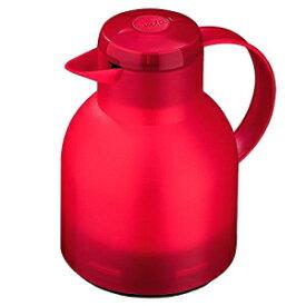 Emsa Samba, Quick Press, Vacuum Insulated Thermal Carafe, 34 oz, Translucent Red