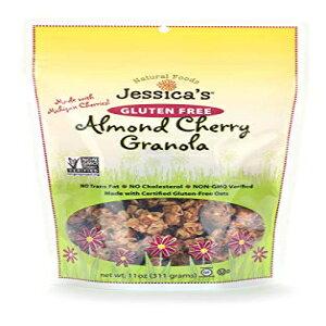 ジェシカのナチュラルフーズグルテンフリーアーモンドチェリーグラノーラ11オンス。-オールナチュラルグラノーラ、非GMO朝食用シリアルとスナック、認定グルテンフリー-アーモンドチェリ
