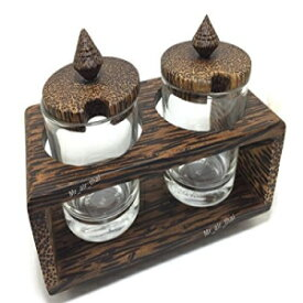 Mr_air_thai_Kitchen Sugar Bowl Glass With Wooden Lid Cream and Milk Holder Coffee Time K012