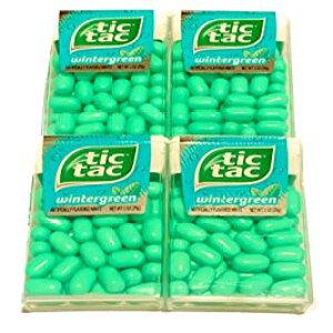 ティックタックミントウィンターグリーンフレーバー| 低カロリーミント| 各1オンスの4パック Generic Tic Tac Mints Wintergreen Flavor | Low Calorie Mints | 4 Packs of 1 oz Each
