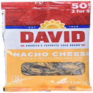 デビッドシードヒマワリの種、ナチョチーズ、0.8オンス、36カウント David Seed Sunflower Seeds, Nacho Cheese, 0.8 Ounce, 36 count