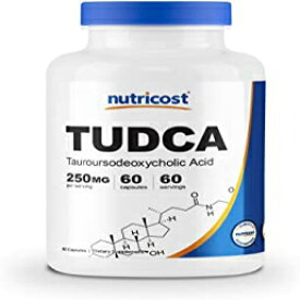 Visit the Nutricost Store 60 Count (Pack of 1), Nutricost Tudca 250mg; 60 Capsules (Tauroursodeoxycholic Acid) - Premium Quality