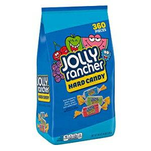 JOLLY RANCHERアソートキャンディ、バルクキャンディ、ブルーラズベリー、グリーンアップル、チェリー、ブドウ、スイカ、5ポンドバッグ 360 Count (Pack of 1), Hard Candies, JOLLY RANCHER Assorted Fruit Flavore