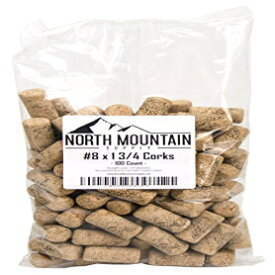 """North Mountain Supply #8 Premium Natural Agglomerated Corks 7/8"""" x 1 3/4"""" - Bag of 100"""