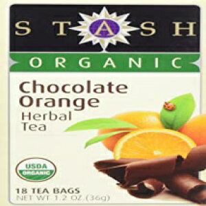スタッシュハーブティーオーガニックチョコレートオレンジ1パック18袋 Stash Tea Stash Herbal Tea Organic Chocolate Orange 1 Pack 18 Bags