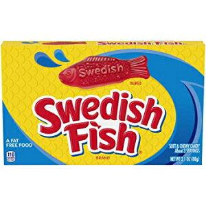 SWEDISH FISHソフト&噛みごたえキャンディー、3.1オンスボックス SWEDISH FISH Soft & Chewy Candy, 3.1 oz Box