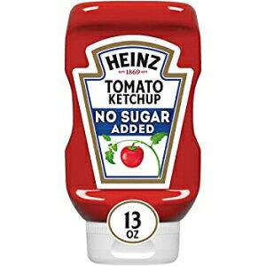 ハインツ無糖トマトケチャップ、13オンススクイズボトル(6パック) No Sugar Added, Heinz Tomato Ketchup, No Sugar Added (13 oz Bottles, Pack of 6)