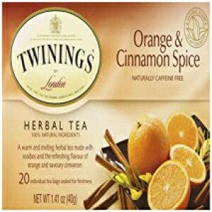 Twiningsオレンジ&シナモンスパイスティー-20 ct(1.41オンス) Visit the Twinings Store Twinings Orange & Cinnamon Spice Tea - 20 ct (1.41 oz)